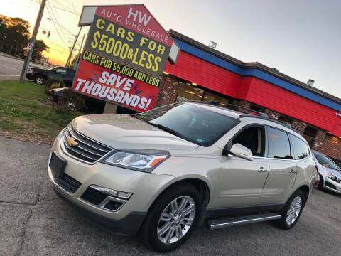2013 Chevrolet Traverse for sale at HW Auto Wholesale in Norfolk VA