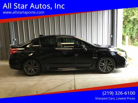 2017 Subaru WRX for sale at All Star Autos, Inc in La Porte IN