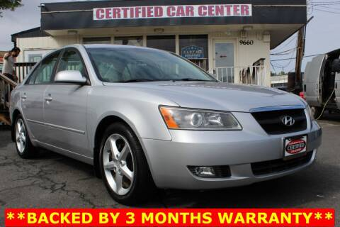 2008 Hyundai Sonata for sale at CERTIFIED CAR CENTER in Fairfax VA