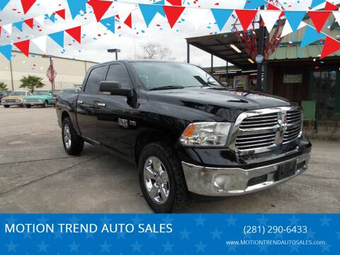 2014 RAM Ram Pickup 1500 for sale at MOTION TREND AUTO SALES in Tomball TX