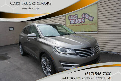 2016 Lincoln MKC for sale at Cars Trucks & More in Howell MI