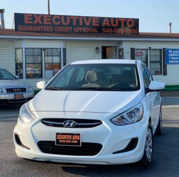 2017 Hyundai Accent for sale at Executive Auto in Winchester VA