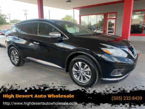 2015 Nissan Murano for sale at High Desert Auto Wholesale in Albuquerque NM