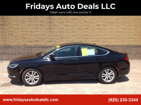2015 Chrysler 200 for sale at Fridays Auto Deals LLC in Oshkosh WI