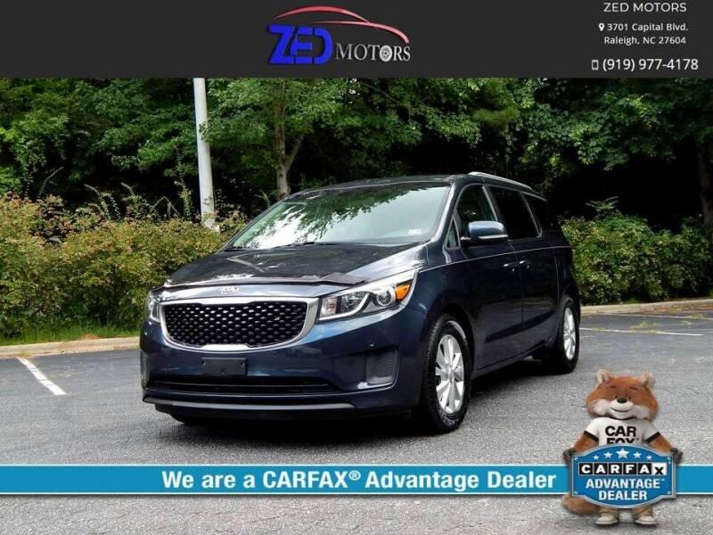 2017 Kia Sedona for sale at Zed Motors in Raleigh NC