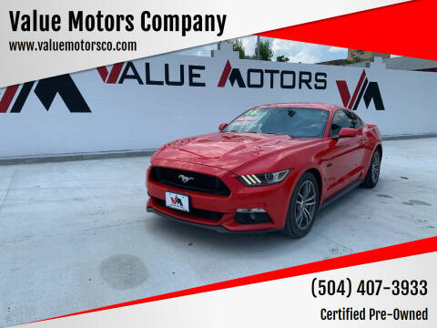 2016 Ford Mustang for sale at Value Motors Company in Marrero LA