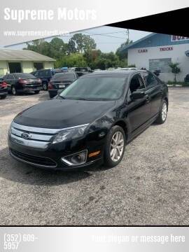 2012 Ford Fusion for sale at Supreme Motors in Tavares FL