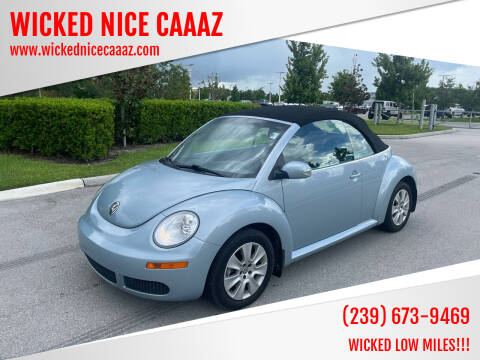 2009 Volkswagen New Beetle Convertible for sale at WICKED NICE CAAAZ in Cape Coral FL