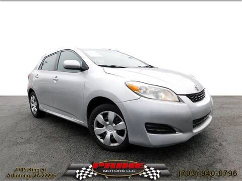 2013 Toyota Matrix for sale at PRIME MOTORS LLC in Arlington VA