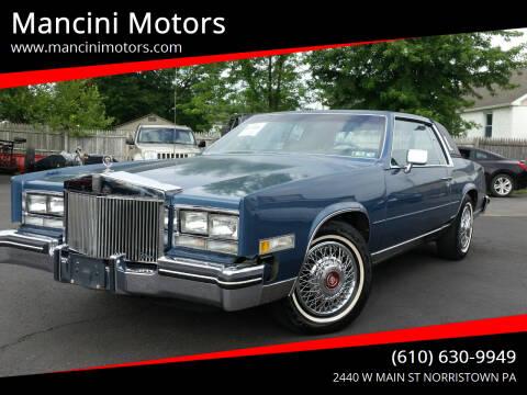 1985 Cadillac Eldorado for sale at Mancini Motors in Norristown PA