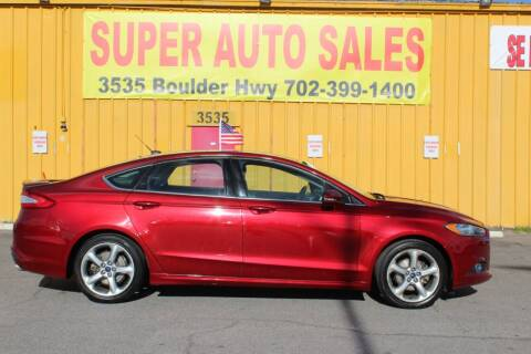 2016 Ford Fusion for sale at Super Auto Sales in Las Vegas NV