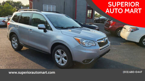 2014 Subaru Forester for sale at SUPERIOR AUTO MART in Amelia OH