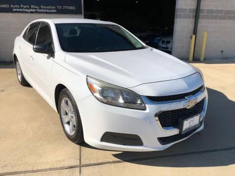 2014 Chevrolet Malibu for sale at KAYALAR MOTORS - ECUFAST HOUSTON in Houston TX