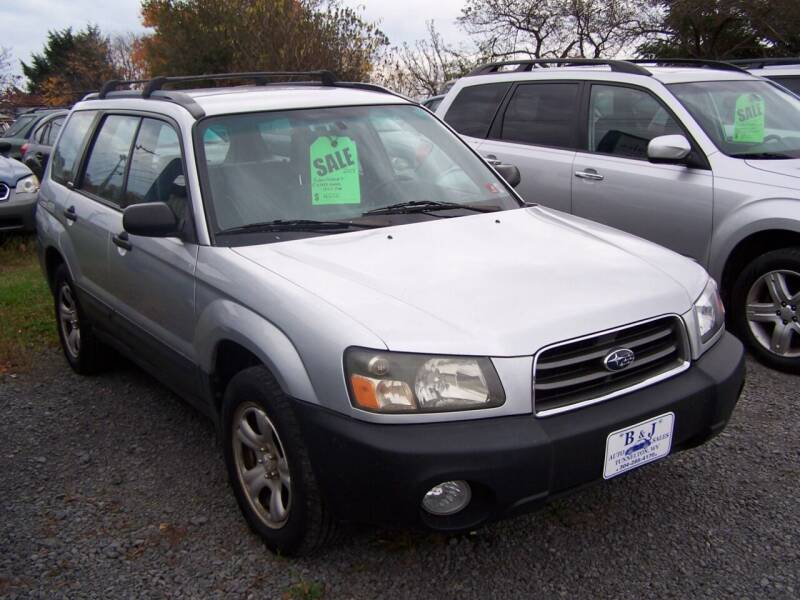 2003 Subaru Forester for sale at B & J Auto Sales in Tunnelton WV