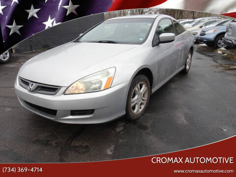 2007 Honda Accord for sale at Cromax Automotive in Ann Arbor MI