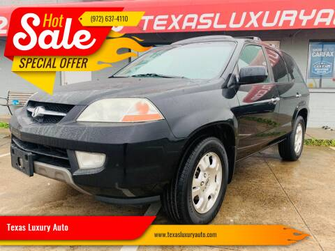 2002 Acura MDX for sale at Texas Luxury Auto in Cedar Hill TX