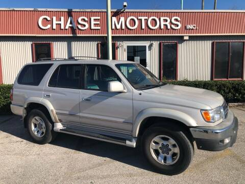 2000 Toyota 4Runner for sale at Chase Motors Inc in Stafford TX