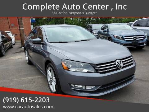2015 Volkswagen Passat for sale at Complete Auto Center , Inc in Raleigh NC