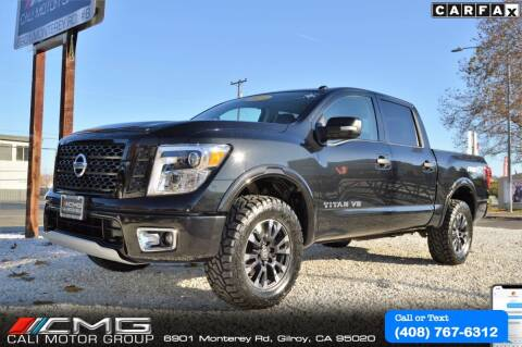 2019 Nissan Titan for sale at Cali Motor Group in Gilroy CA