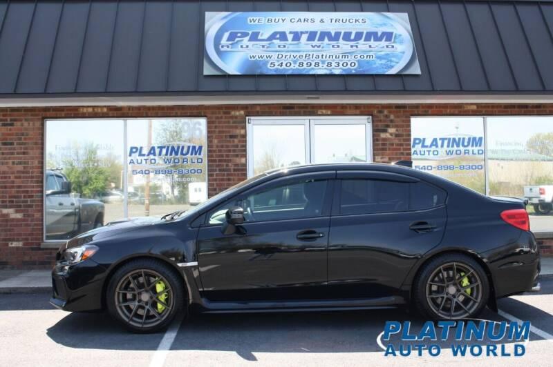 2018 Subaru WRX for sale at Platinum Auto World in Fredericksburg VA