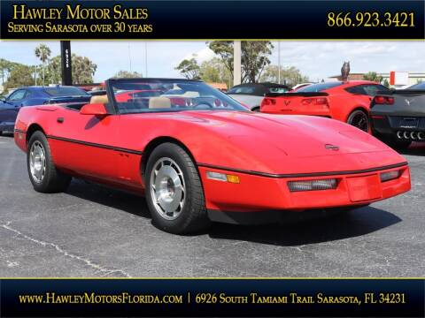 1987 Chevrolet Corvette for sale at Hawley Motor Sales in Sarasota FL