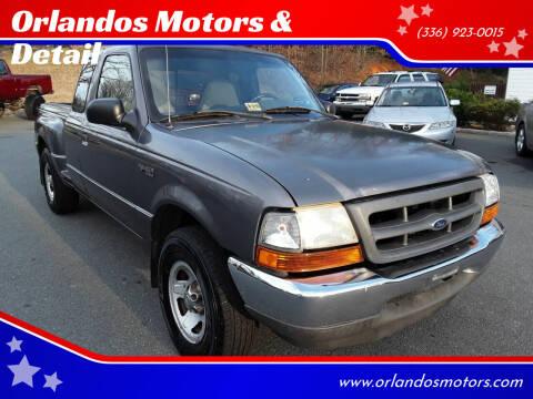 2000 Ford Ranger for sale at Orlandos Motors & Detail in Winston Salem NC