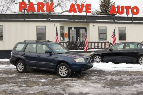 2006 Subaru Forester for sale at Park Ave Auto Inc. in Worcester MA
