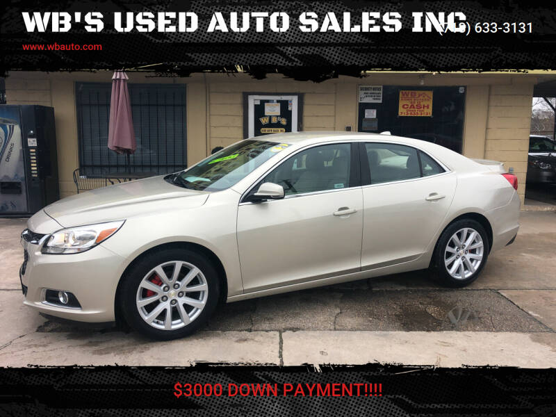 2014 Chevrolet Malibu for sale at WB'S USED AUTO SALES INC in Houston TX