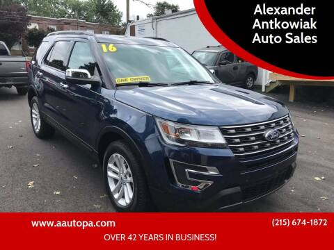 2016 Ford Explorer for sale at Alexander Antkowiak Auto Sales in Hatboro PA