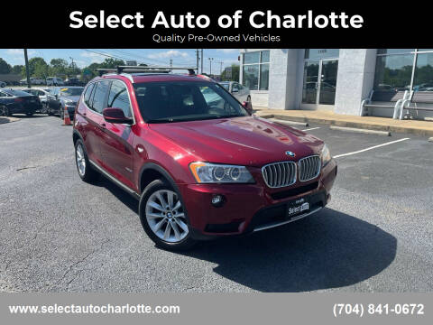 2013 BMW X3 for sale at Select Auto of Charlotte in Matthews NC