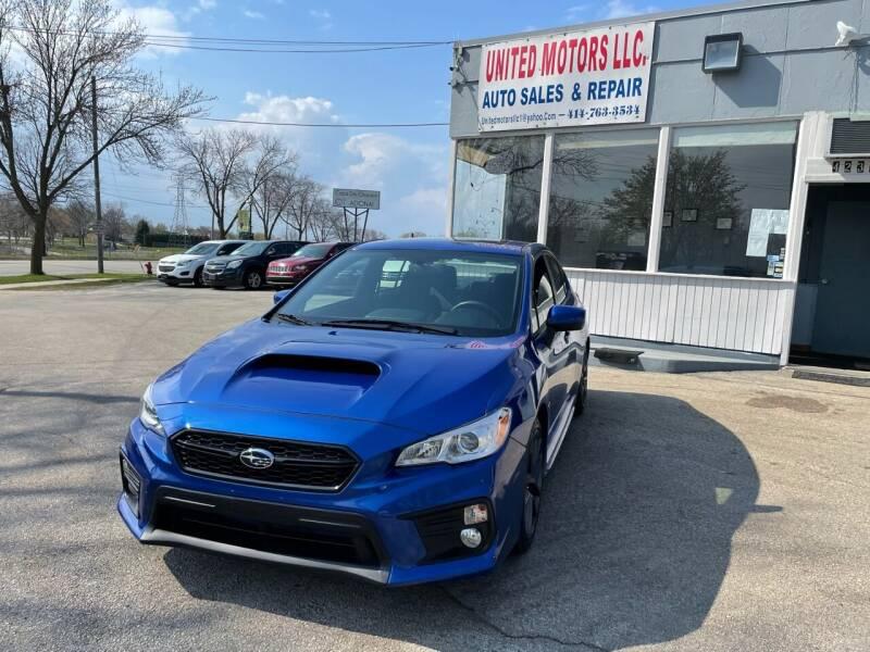 2019 Subaru WRX for sale at United Motors LLC in Saint Francis WI