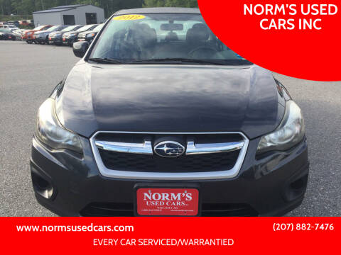 2012 Subaru Impreza for sale at NORM'S USED CARS INC in Wiscasset ME