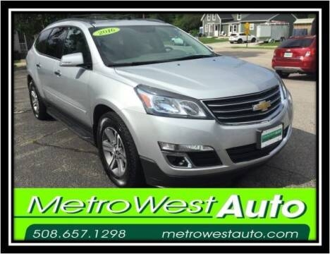 2016 Chevrolet Traverse for sale at Metro West Auto in Bellingham MA