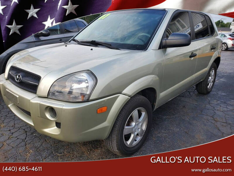 2007 Hyundai Tucson for sale at Gallo's Auto Sales in North Bloomfield OH