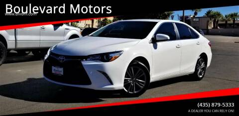 2017 Toyota Camry for sale at Boulevard Motors in St George UT