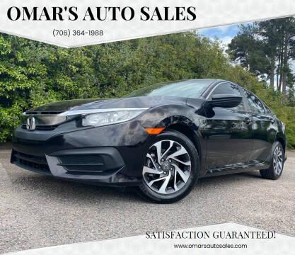 2016 Honda Civic for sale at Omar's Auto Sales in Martinez GA