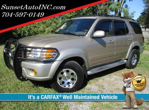 2003 Toyota Sequoia for sale at Sunset Auto in Charlotte NC
