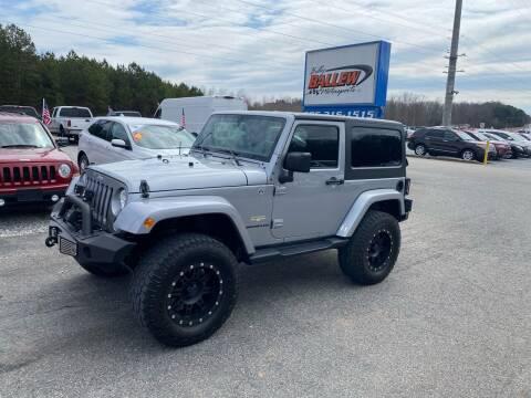 2015 Jeep Wrangler for sale at Billy Ballew Motorsports in Dawsonville GA