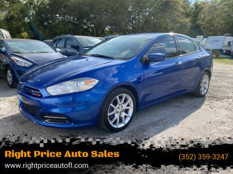 2013 Dodge Dart for sale at Right Price Auto Sales in Waldo FL