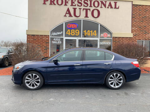 2014 Honda Accord for sale at Professional Auto Sales & Service in Fort Wayne IN
