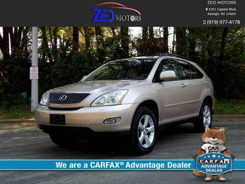 2004 Lexus RX 330 for sale at Zed Motors in Raleigh NC