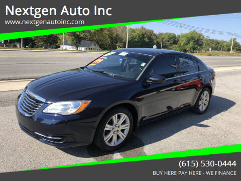 2012 Chrysler 200 for sale at Nextgen Auto Inc in Smithville TN