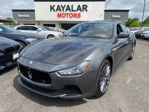2017 Maserati Ghibli for sale at KAYALAR MOTORS in Houston TX