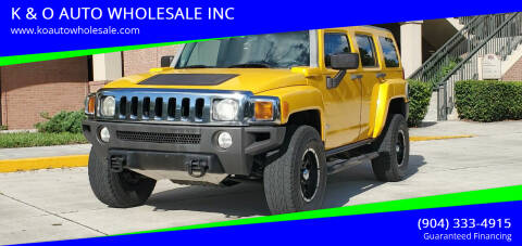 2007 HUMMER H3 for sale at K & O AUTO WHOLESALE INC in Jacksonville FL