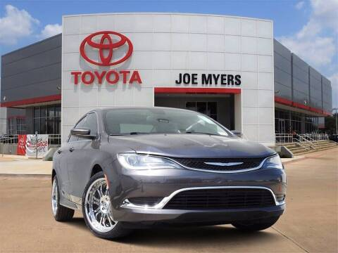 2016 Chrysler 200 for sale at Joe Myers Toyota PreOwned in Houston TX