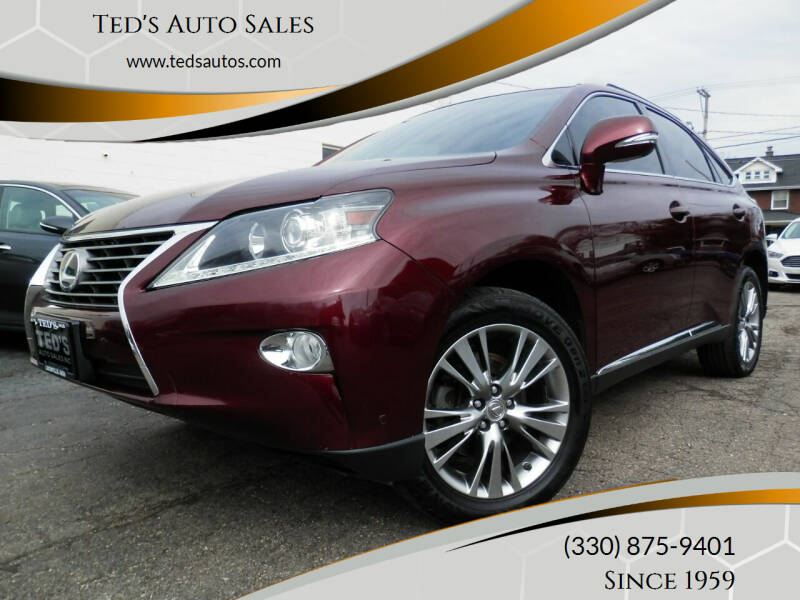 2014 Lexus RX 350 for sale at Ted's Auto Sales in Louisville OH