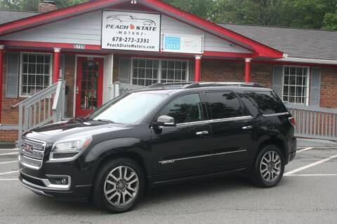 2013 GMC Acadia for sale at Peach State Motors Inc in Acworth GA