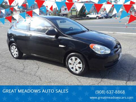 2009 Hyundai Accent for sale at GREAT MEADOWS AUTO SALES in Great Meadows NJ