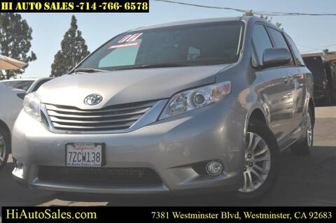 2017 Toyota Sienna for sale at Hi Auto Sales in Westminster CA
