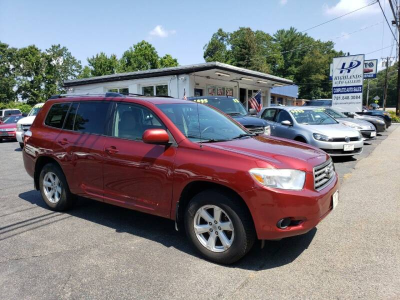 2010 Toyota Highlander for sale at Highlands Auto Gallery in Braintree MA